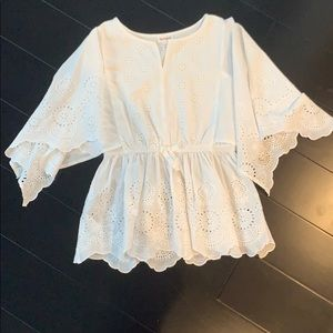 Girl's Lace White Top